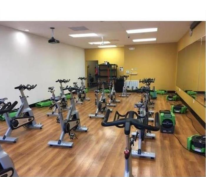 Water Damage – Chicago Fitness Center After