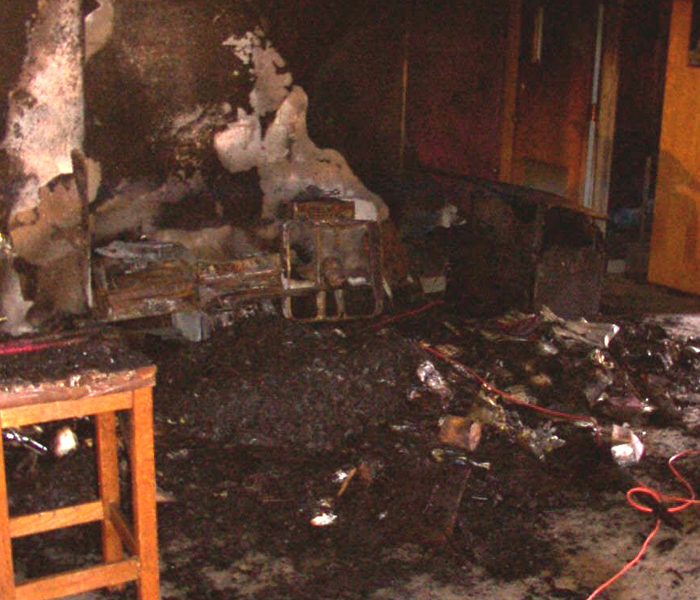 Fire Damage - Chicago Empty Classroom